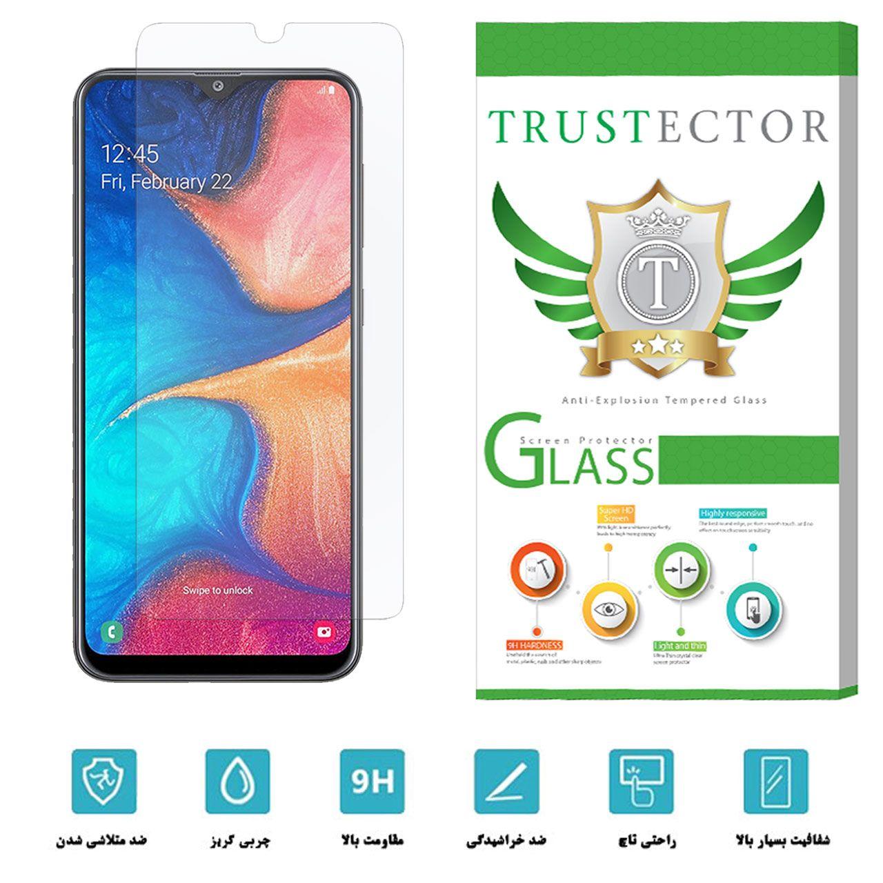 محافظ صفحه نمایش تراستکتور مدل GLS مناسب برای گوشی موبایل سامسونگ Galaxy A20 main 1 4