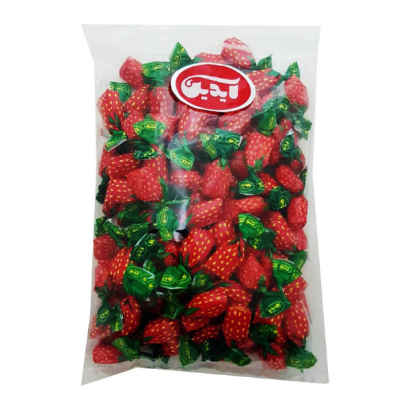 آبنبات توت فرنگی با مغزی پاستیل آیدین - 500 گرم