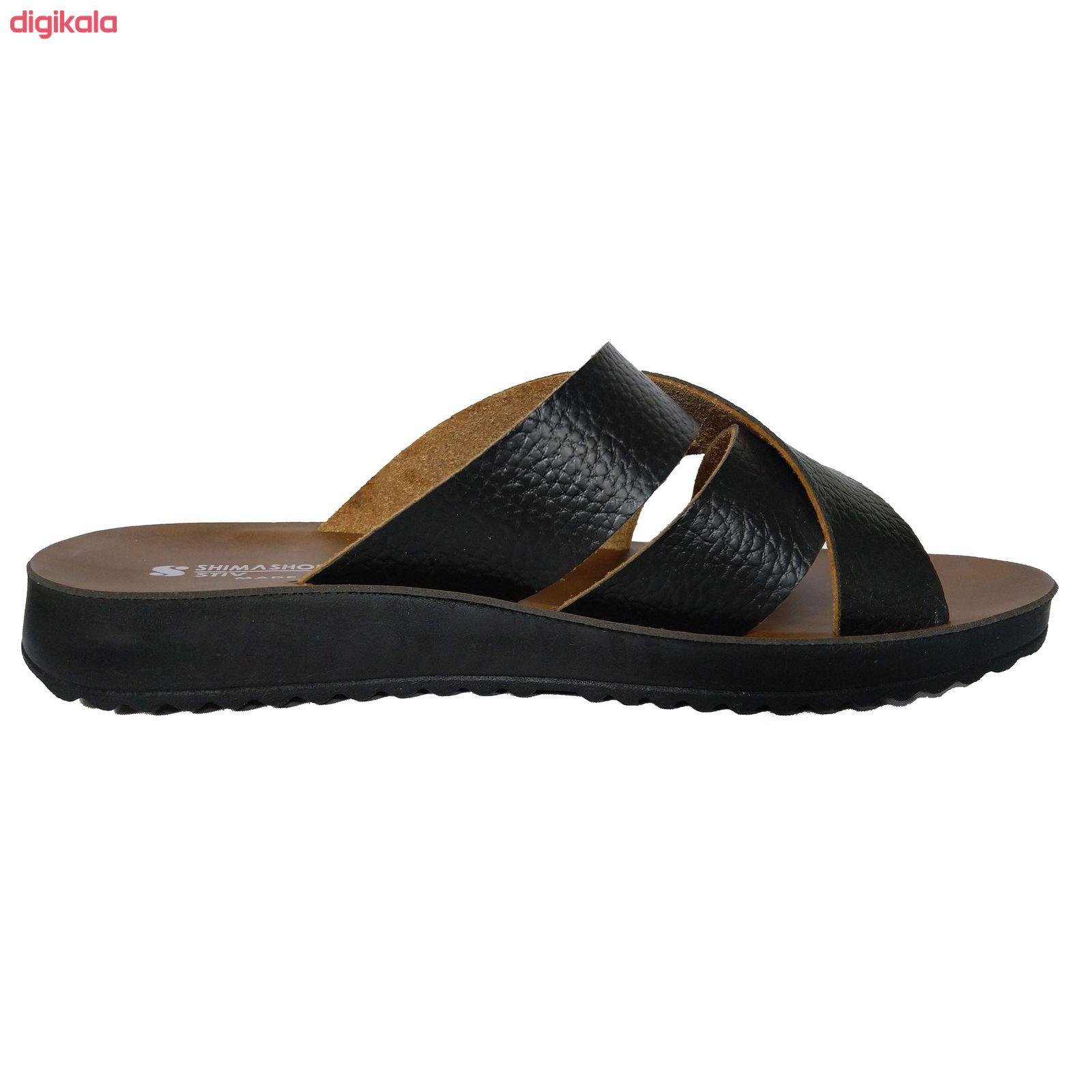 دمپایی مردانه کفش شیما مدل استیو کد  sh-esm01 main 1 1