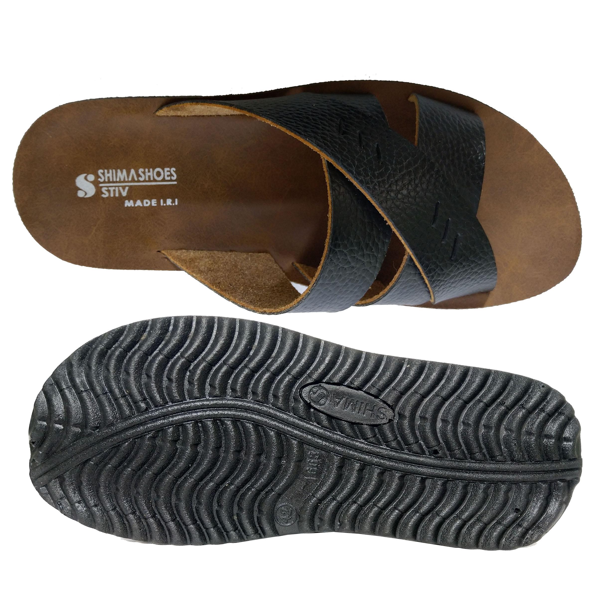 دمپایی مردانه کفش شیما مدل استیو کد  sh-esm01
