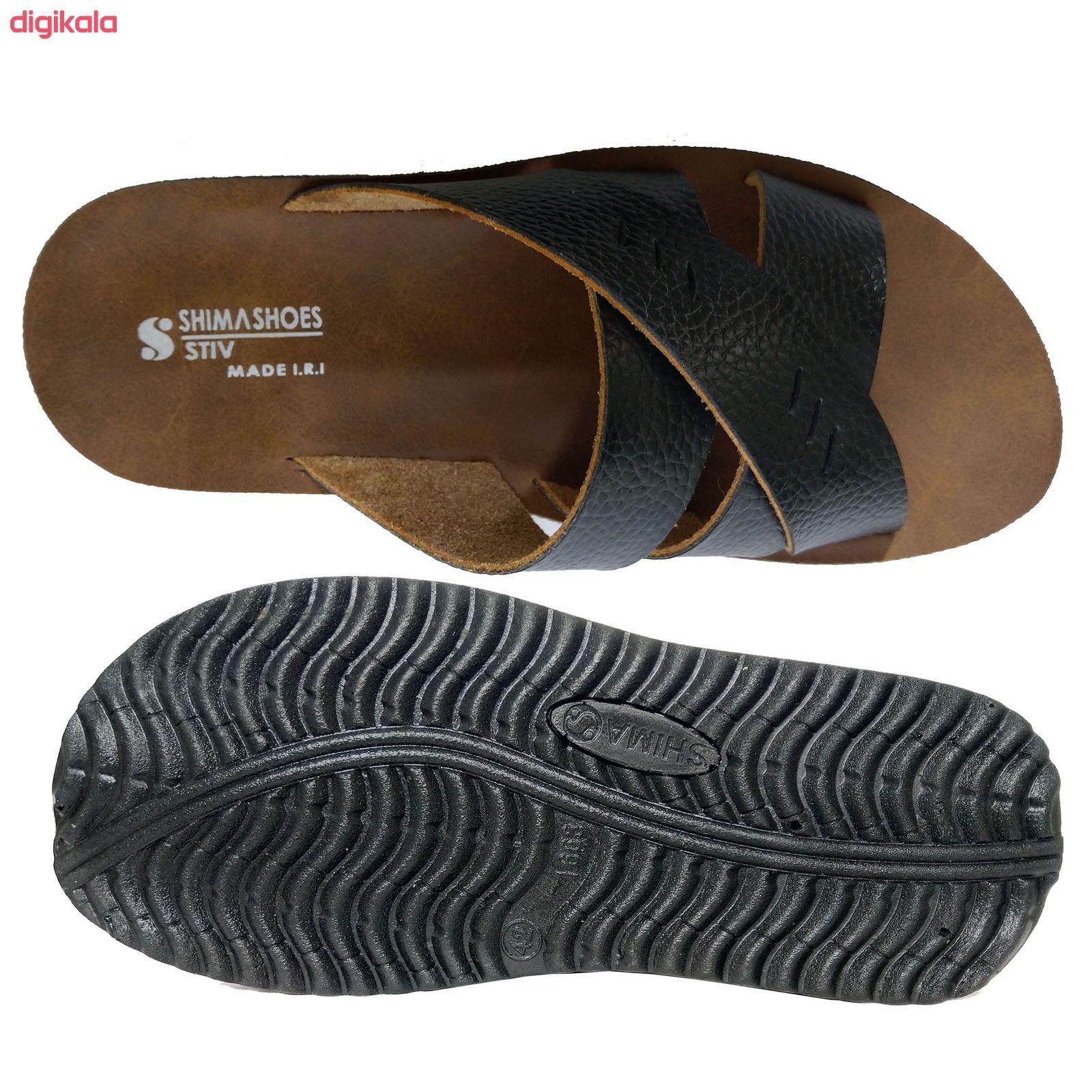 دمپایی مردانه کفش شیما مدل استیو کد  sh-esm01 main 1 2