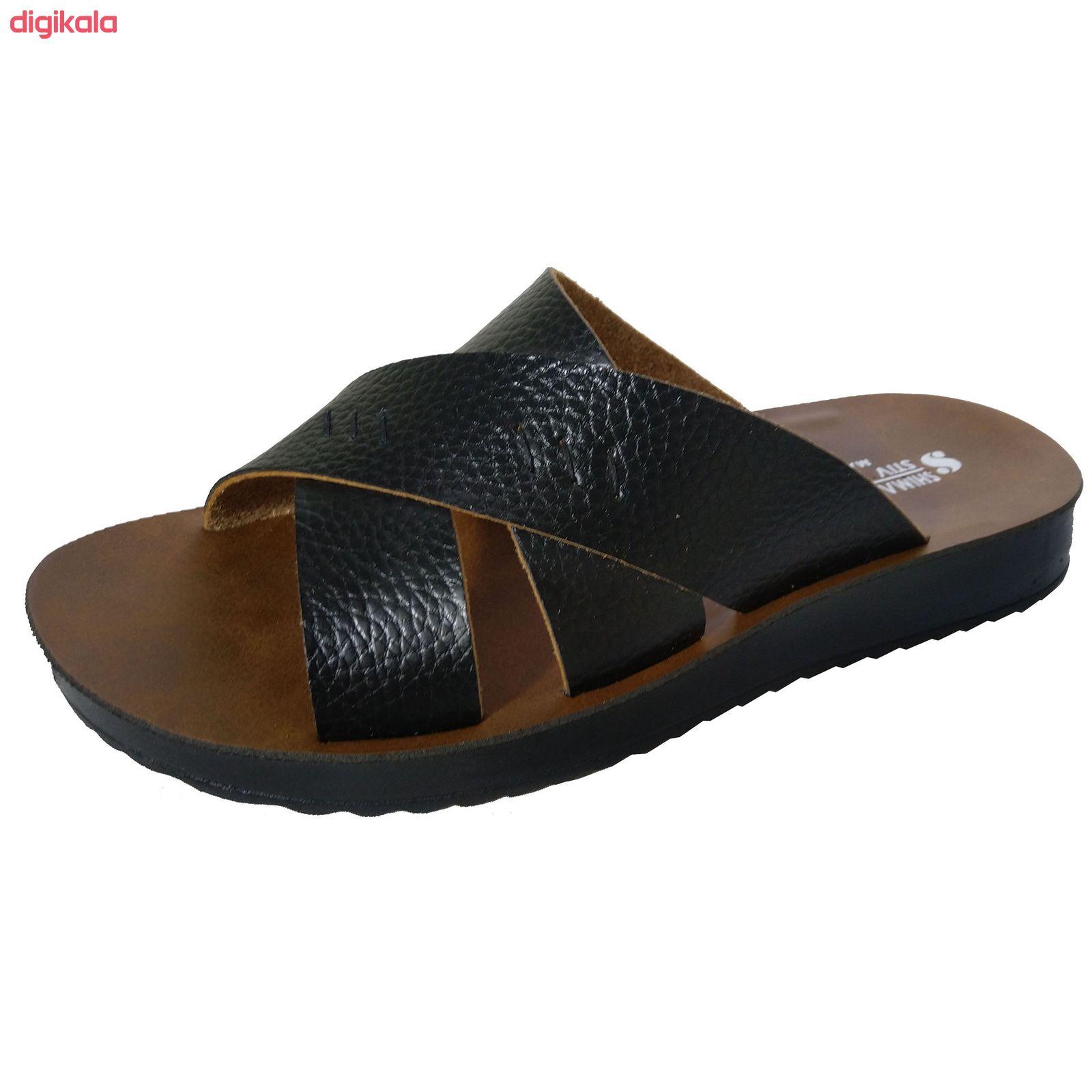 دمپایی مردانه کفش شیما مدل استیو کد  sh-esm01 main 1 3