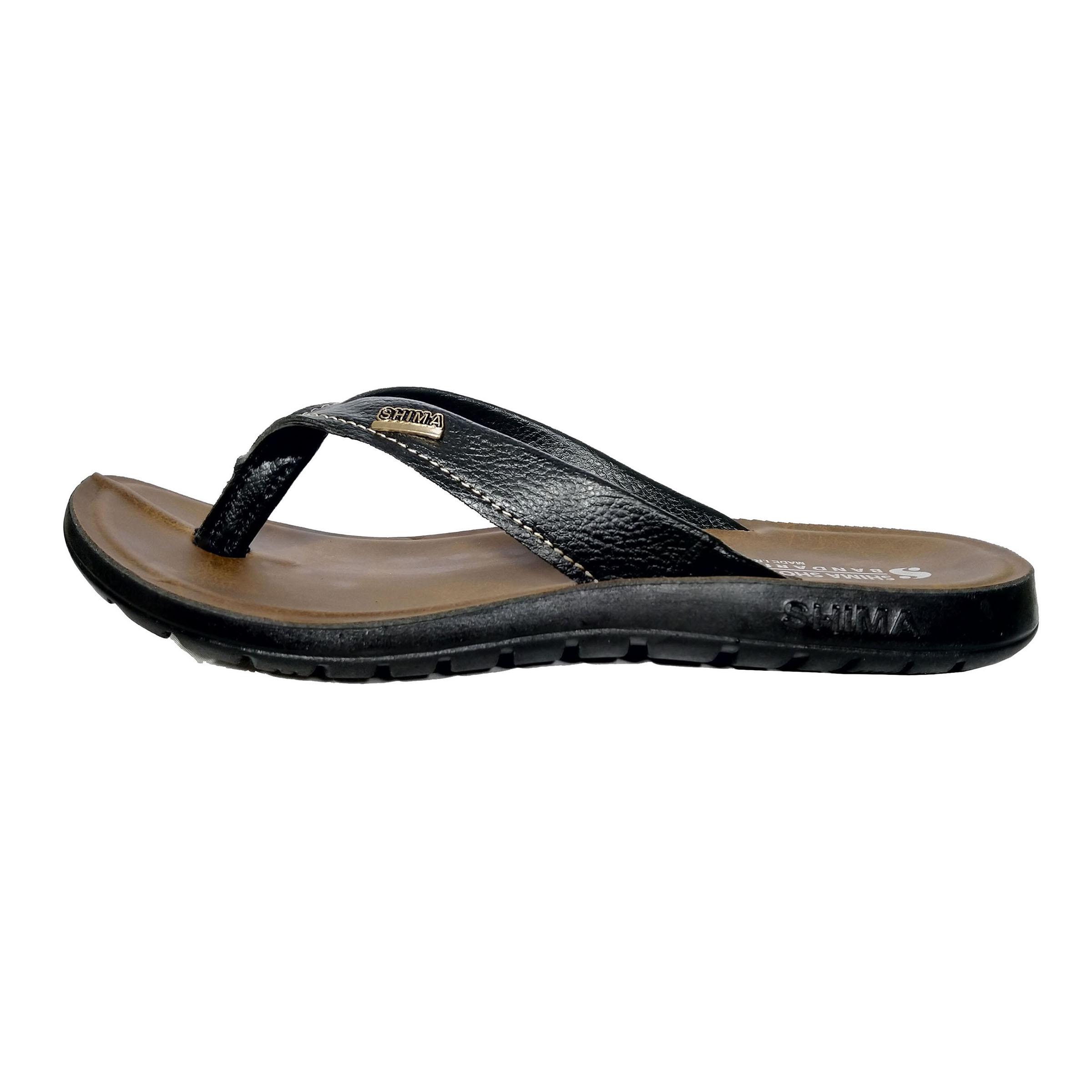 دمپایی لاانگشتی  مردانه کفش  شیما مدل بندری کد sh-banmes03