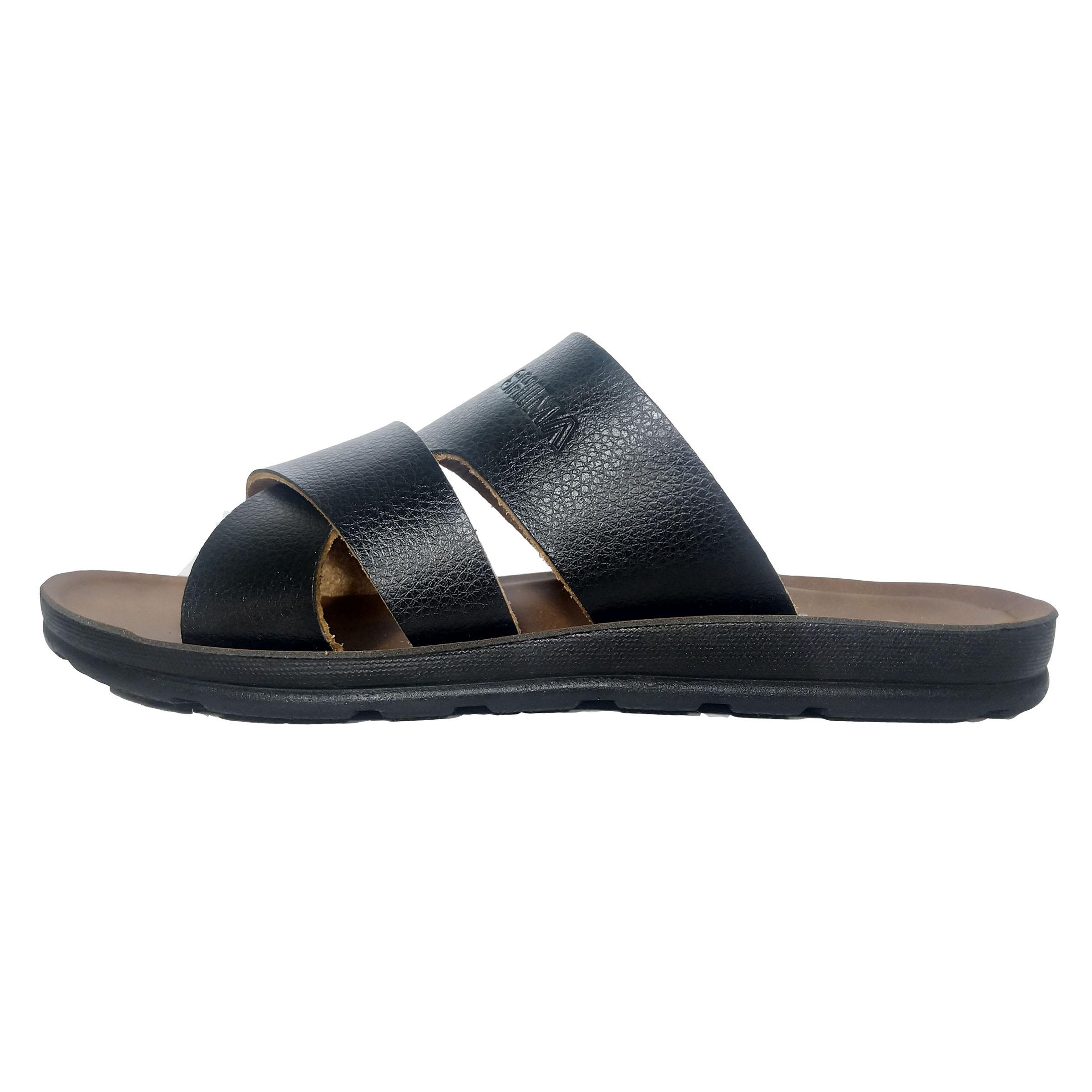 دمپایی مردانه کفش شیما مدل پرتو کد 05 رنگ مشکی