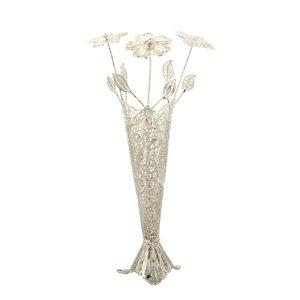 ست گل و گلدان ملیله کاری کد 001