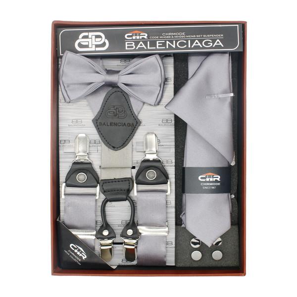 ست ساسبند و کراوات و پاپیون مردانه سی اچ آر کد MH090GY
