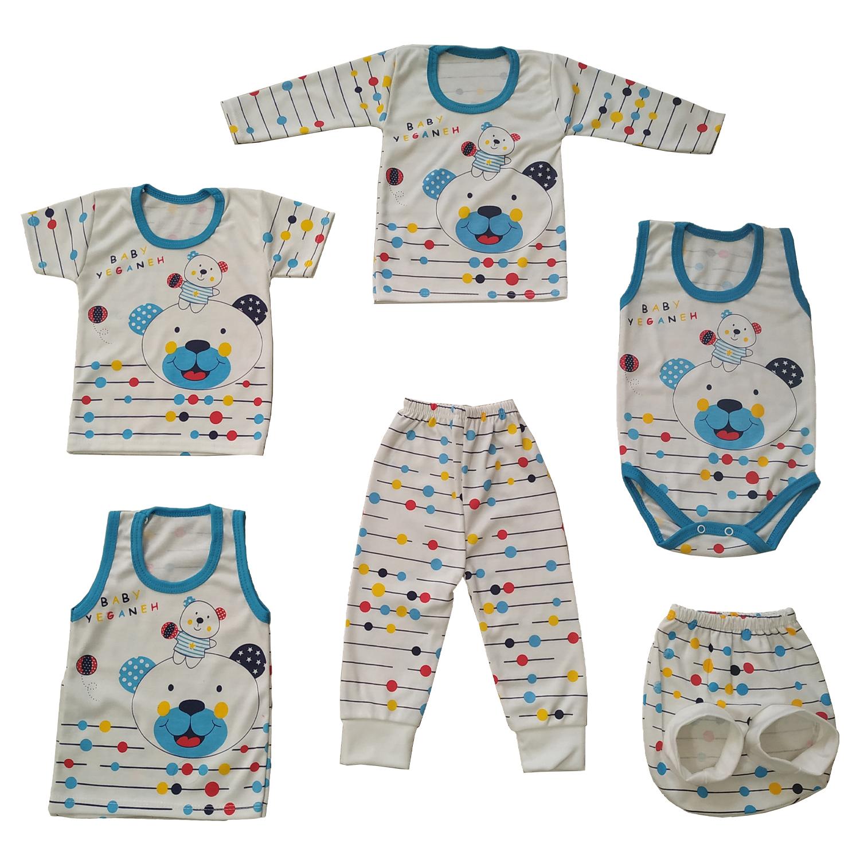 ست 6 تکه لباس نوزاد طرح خرس کد A110