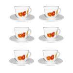 سرویس چای خوری ۱۲ پارچه لومینارک مدل مارگارت