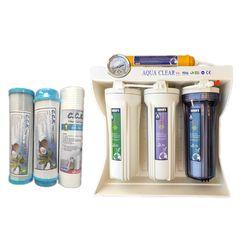دستگاه تصفیه کننده آب آکوا کلیر مدل RO-10 به همراه فیلتر دستگاه تصفیه کننده آب سی سی کا بسته 3 عددی