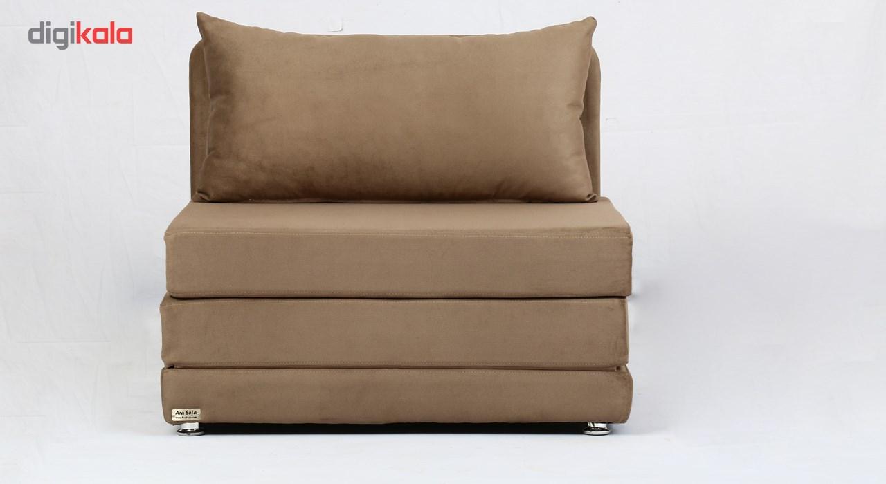 کاناپه مبل تختخواب شو ( تختخوابشو ) یک نفره آرا سوفا مدل A10