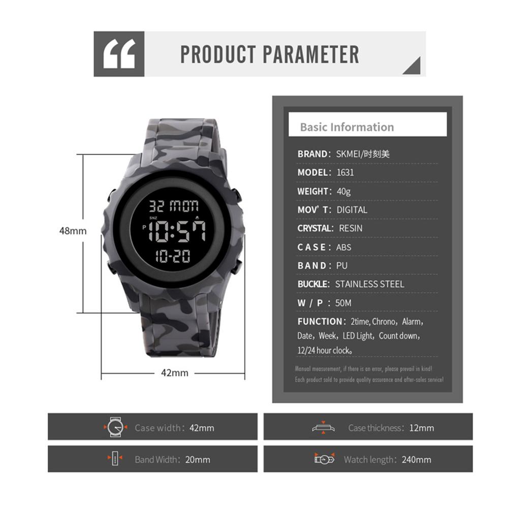 ساعت مچی دیجیتال اسکمی مدل 1631Gr             قیمت