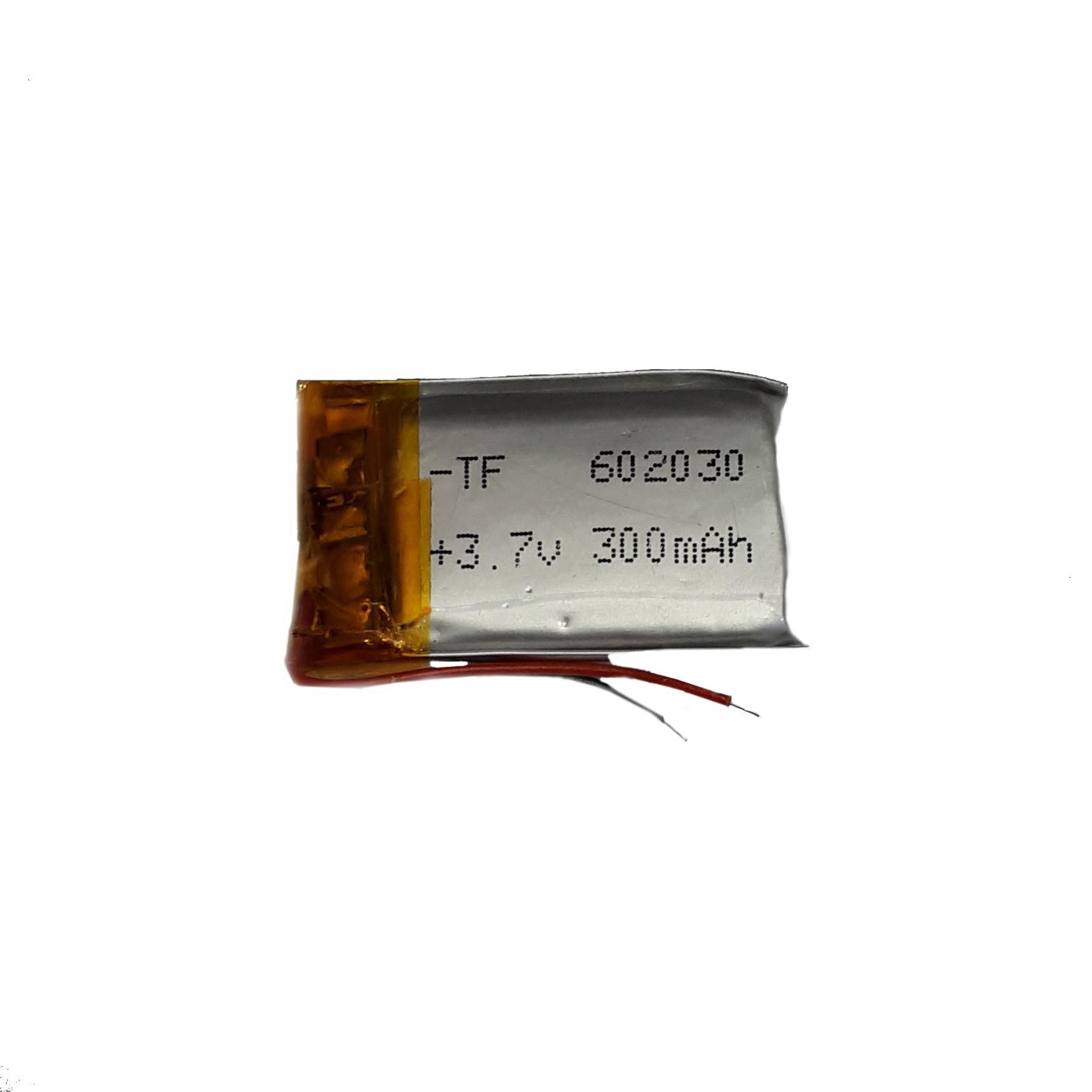 باتری لیتیوم-یون کد 602030 ظرفیت 300 میلی آمپر ساعت