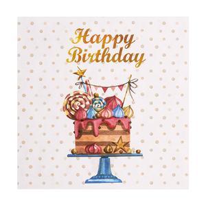 کارت پستال چاپ آقا طرح تولدت مبارک کیکی مدل 14