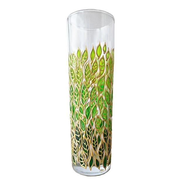 گلدان شیشه ای طرح برگ کد 02