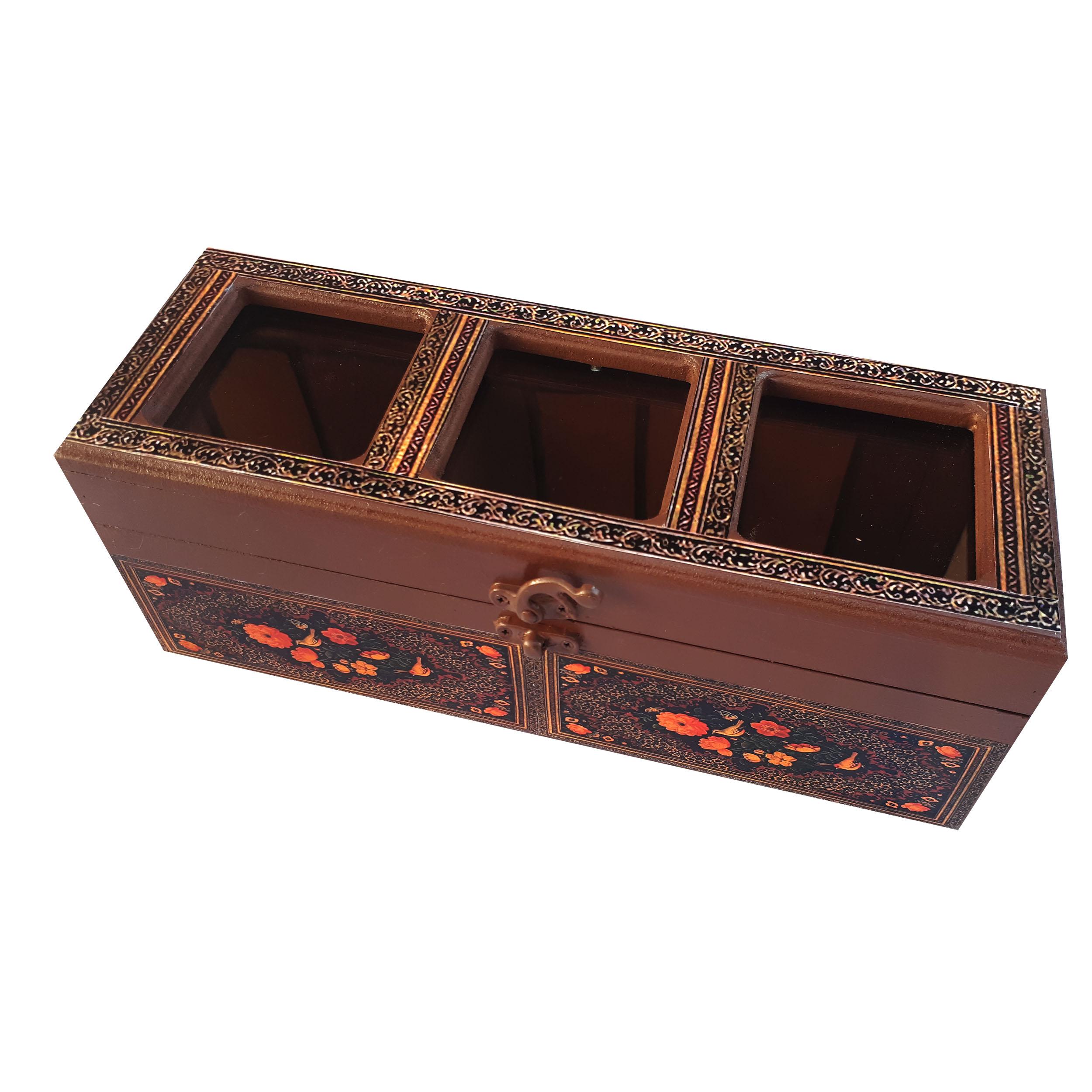 جعبه پذیرایی طرح گل و مرغ کدN1030
