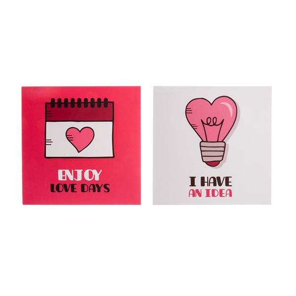 کارت پستال چاپ آقا طرح عشق مدل 04 مجموعه 2عددی