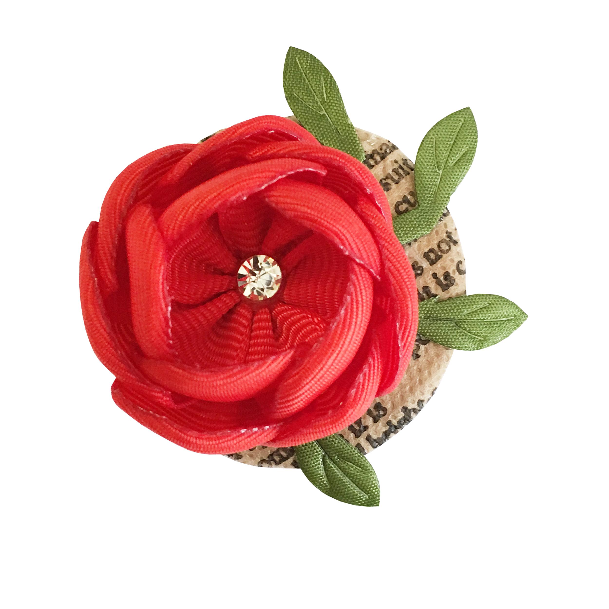 گل سینه دخترانه طرح گل CUP1