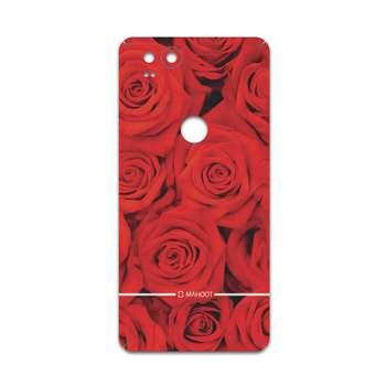 برچسب پوششی ماهوت مدل Red-Flower مناسب برای گوشی موبایل گوگل Pixel 2