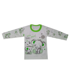 تی شرت نوزاد طرح فیل رنگ سبز