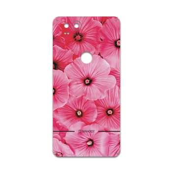 برچسب پوششی ماهوت مدل Pink-Flower مناسب برای گوشی موبایل گوگل Pixel 2