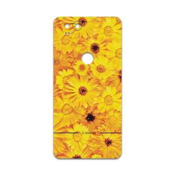 برچسب پوششی ماهوت مدل Yellow-Flower مناسب برای گوشی موبایل گوگل Pixel 2
