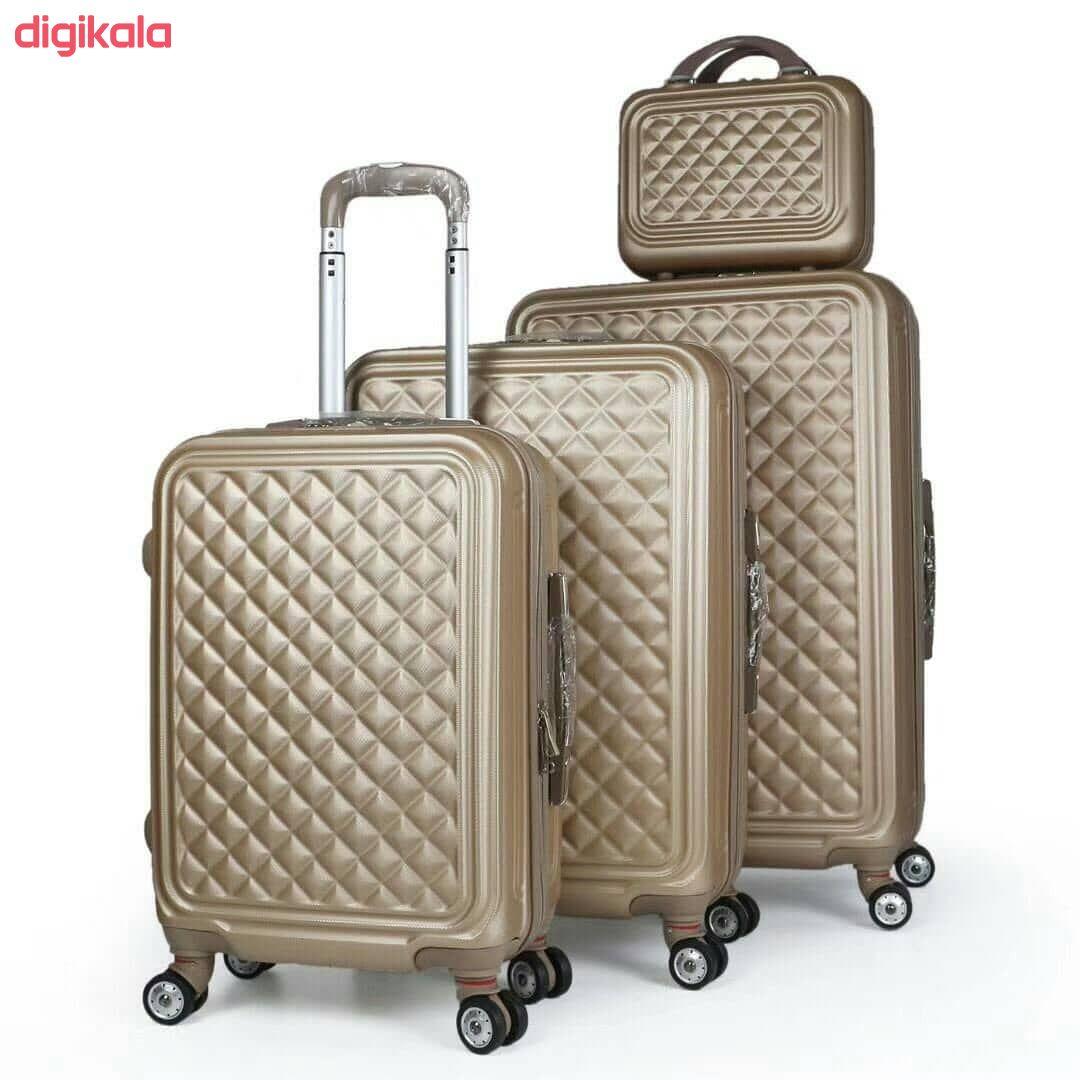 مجموعه چهار عددی چمدان کد B024  main 1 21