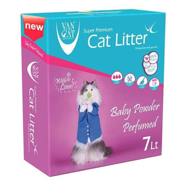 خاک گربه ون کت مدل Baby Powder کد 015 وزن 7 کیلوگرم