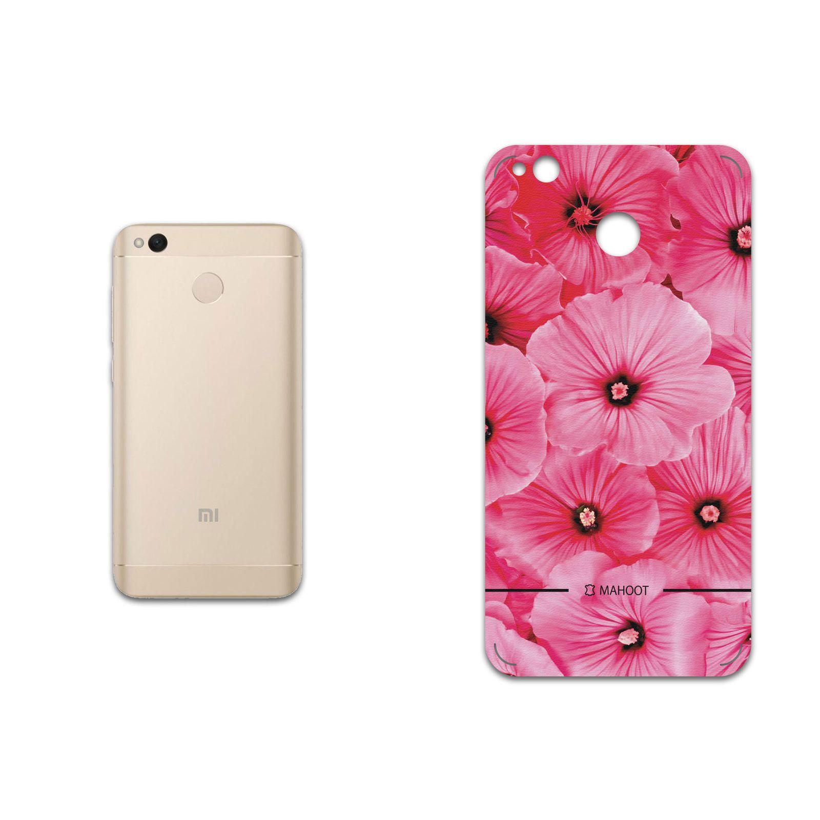 برچسب پوششی ماهوت مدل Pink-Flower مناسب برای گوشی موبایل شیائومی Redmi 4X main 1 1