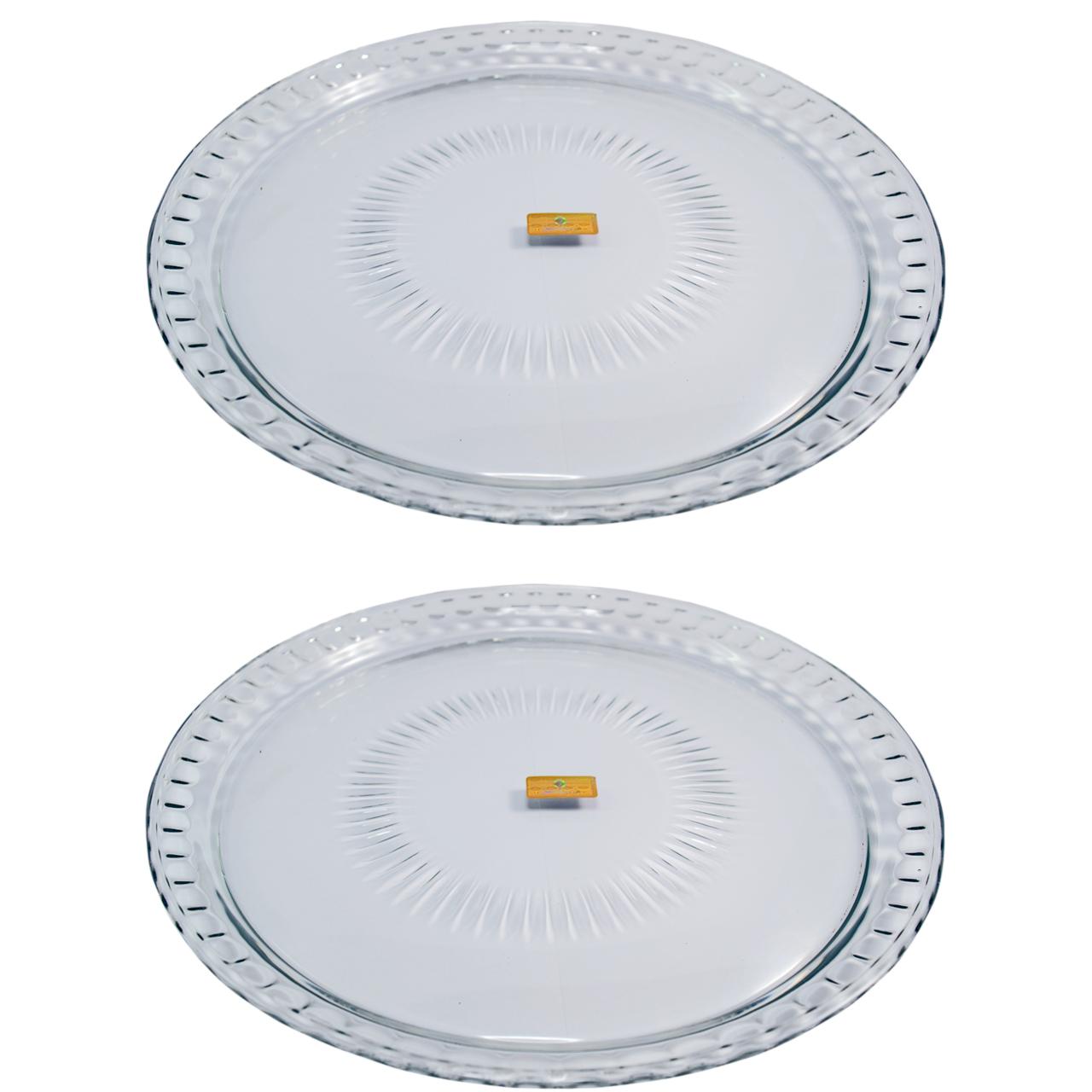 دیس شیشه و بلور اصفهان مدل اطلسی بسته 2 عددی