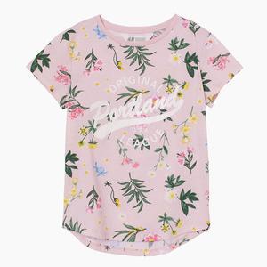 تی شرت دخترانه اچ اند ام مدل Flower Garden