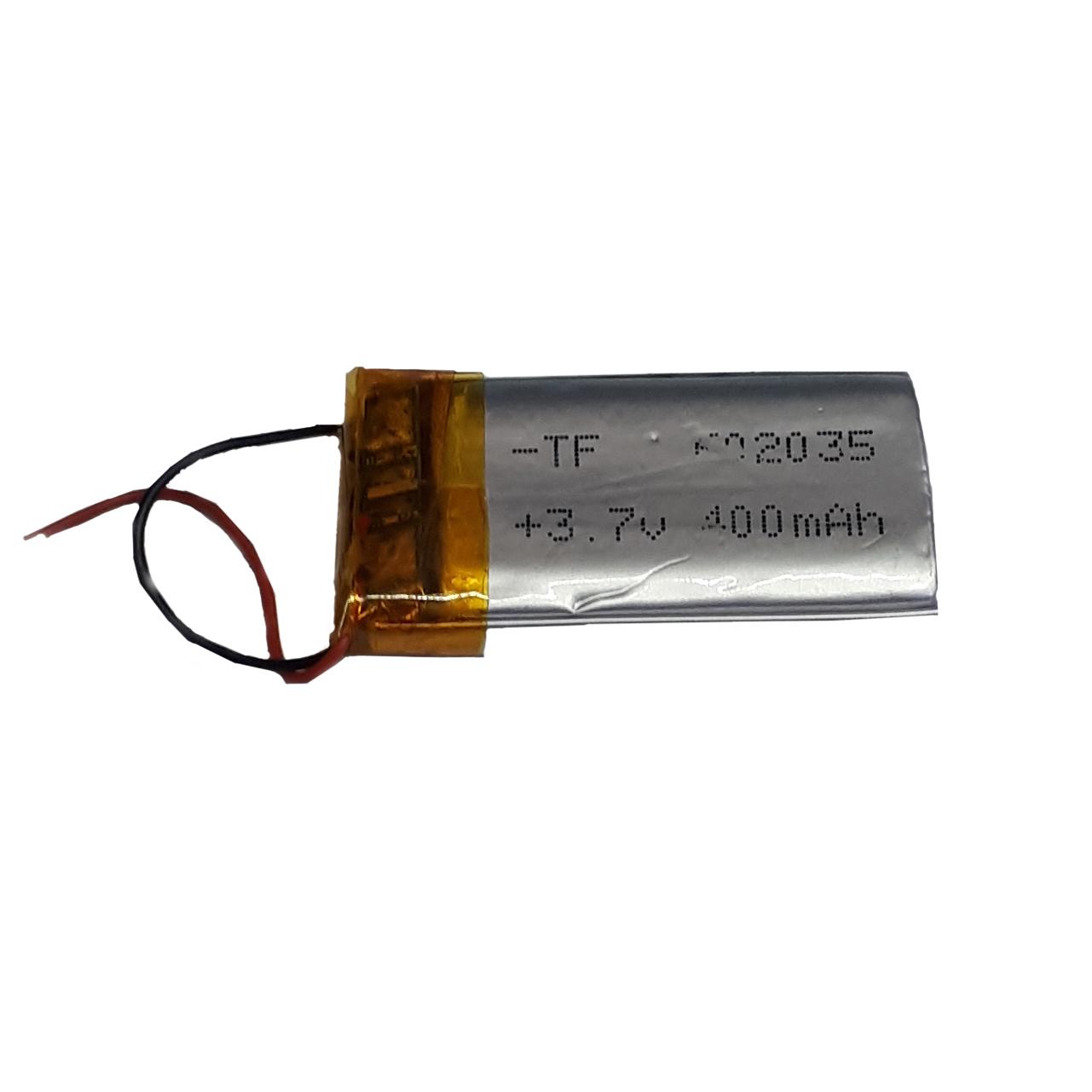 باتری لیتیوم-یون کد 602535 ظرفیت 400 میلی آمپر ساعت