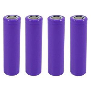 باتری لیتیوم یون قابل شارژ مدل PUR-18650 ظرفیت 2000 میلی آمپرساعت بسته 4 عددی