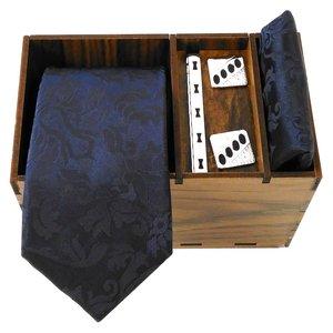ست کراوات و دستمال جیب و دکمه سر دست مردانه کد 415