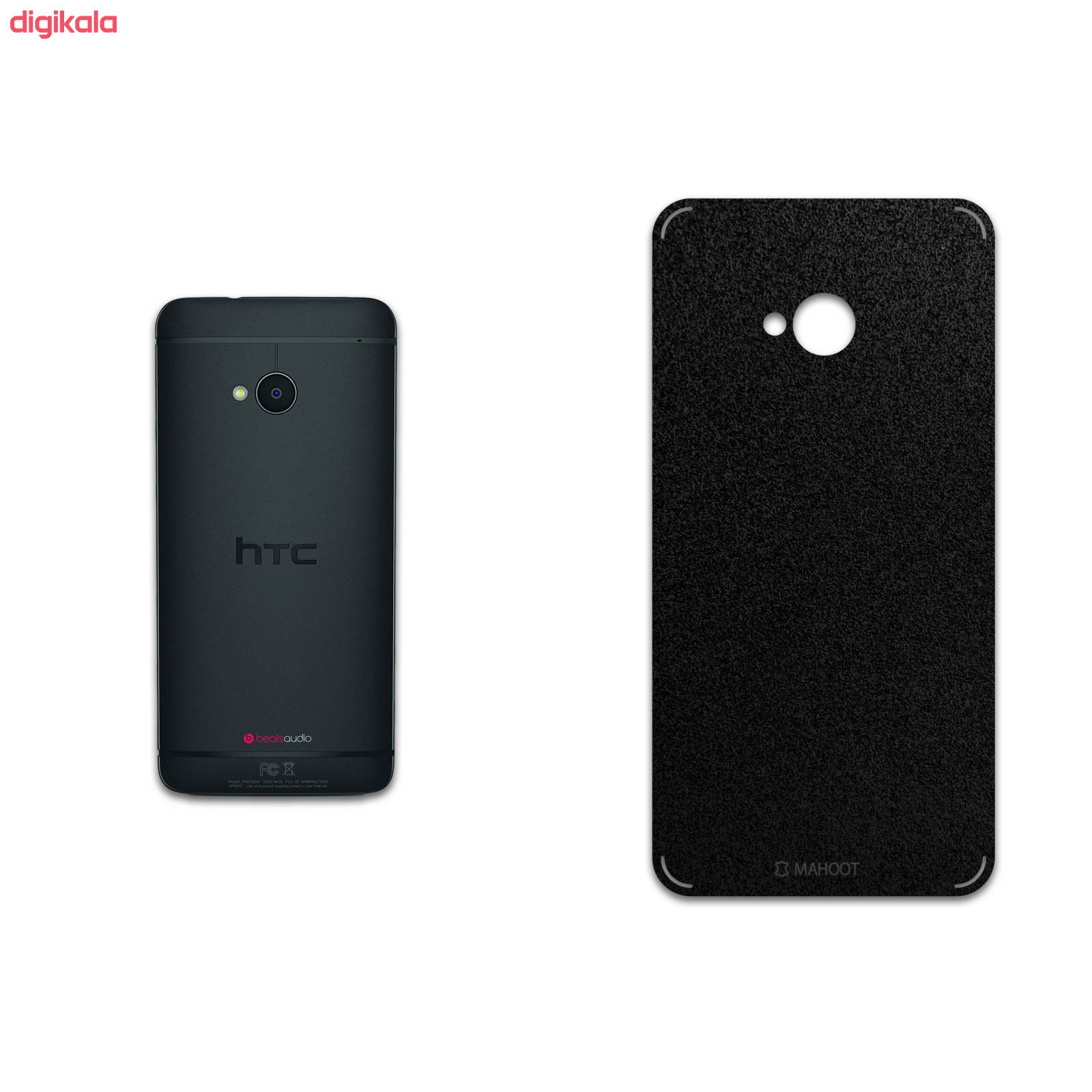 برچسب پوششی ماهوت مدل Black-Suede مناسب برای گوشی موبایل اچ تی سی One main 1 1