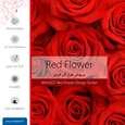 برچسب پوششی ماهوت مدل Red-Flower مناسب برای گوشی موبایل اچ تی سی One thumb 2
