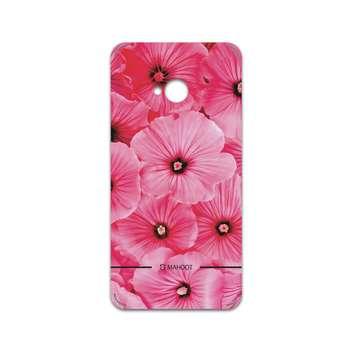برچسب پوششی ماهوت مدل Pink-Flower مناسب برای گوشی موبایل اچ تی سی One