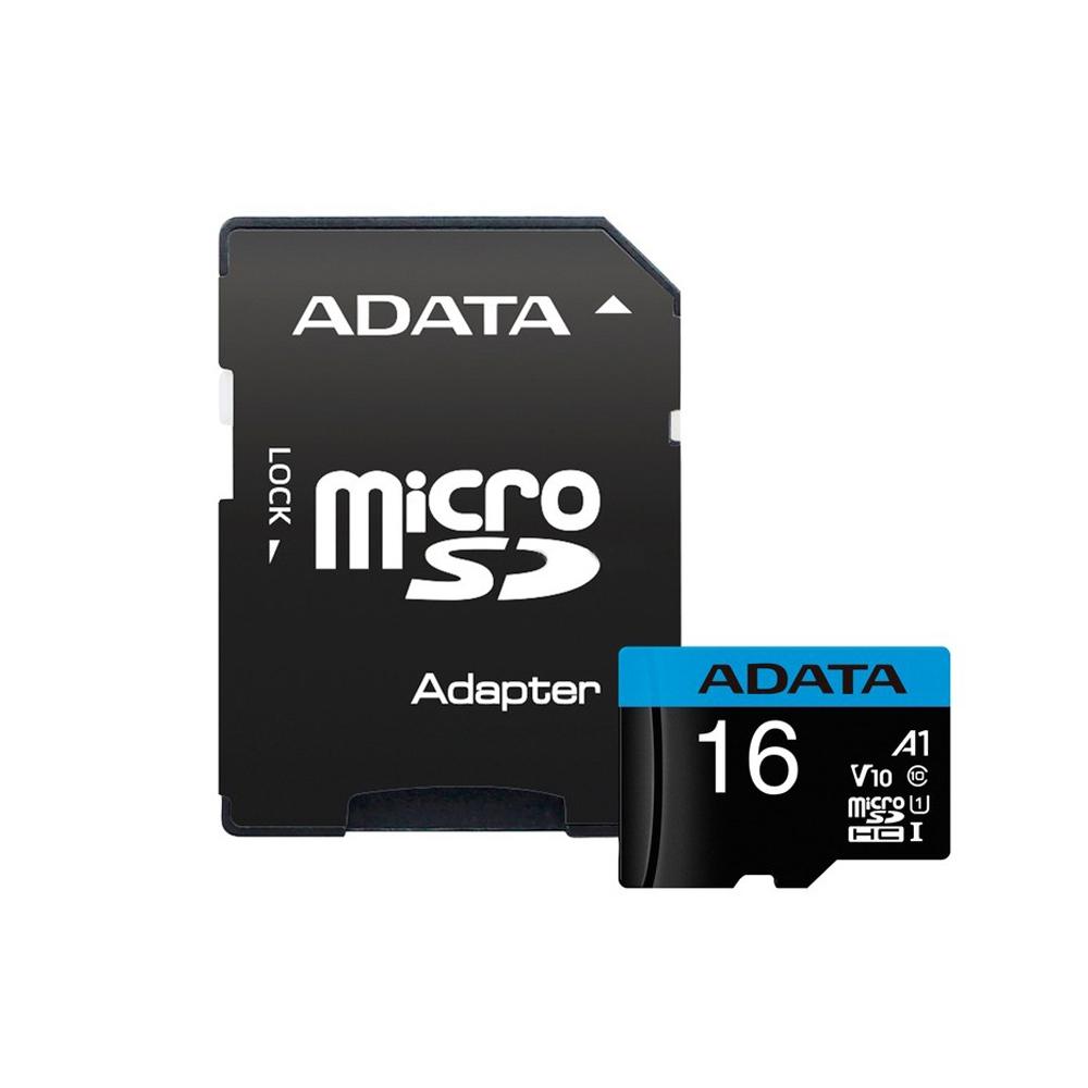 کارت حافظه microSDHC ای دیتا مدل Premier کلاس 10 استاندارد UHS-I U1 سرعت 100MBps ظرفیت 16 گیگابایت به همراه آداپتور SD