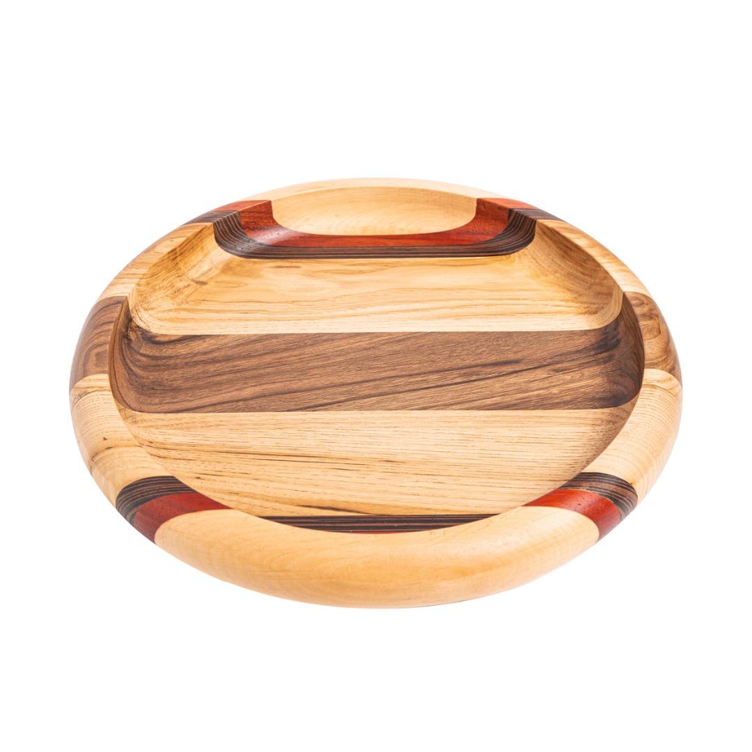 خرید                      بشقاب چوبی مدل w00301