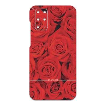 برچسب پوششی ماهوت مدل Red-Flower مناسب برای گوشی موبایل سامسونگ Galaxy S20 Plus