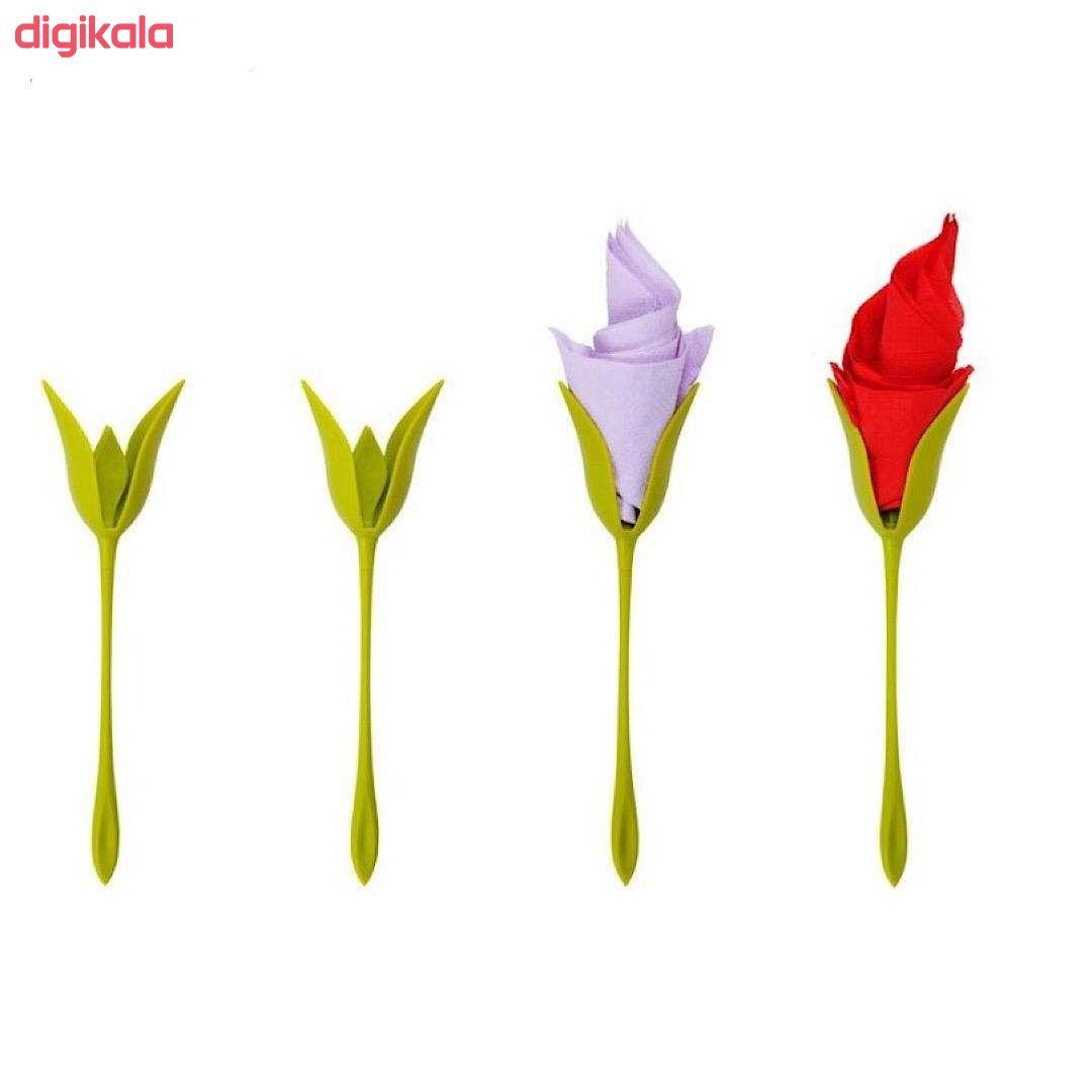 نگهدارنده دستمال سفره طرح گل بسته ۶ عددی main 1 1