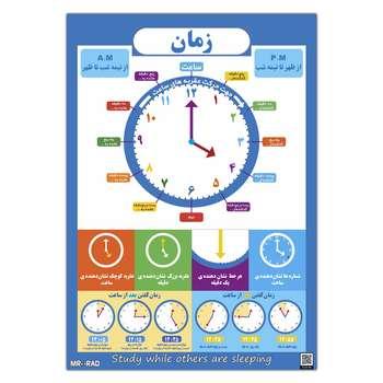 پوستر آموزشی مستر راد طرح آموزش خواندن ساعت مدل time 83423-10