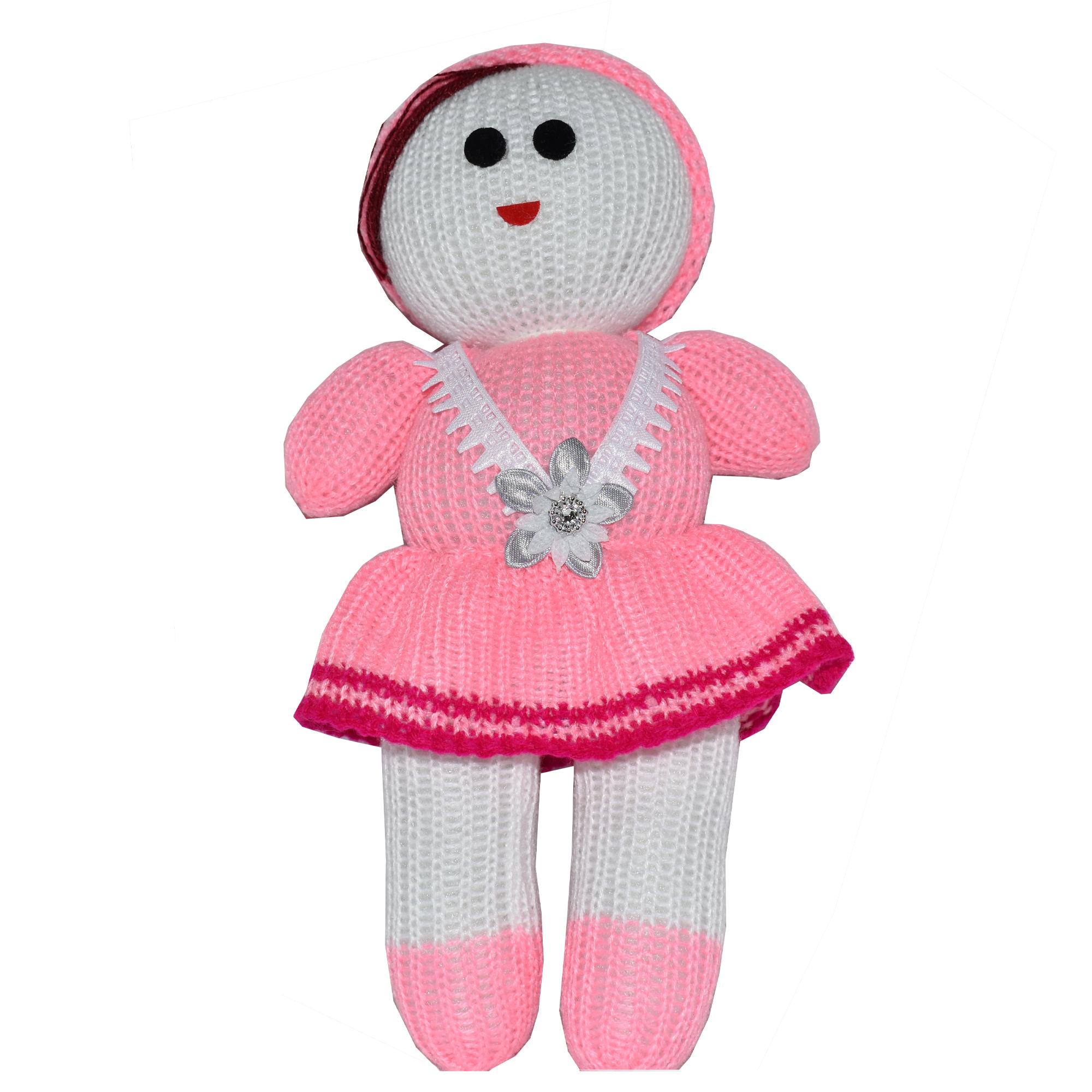 عروسک بافتنی طرح دخترانه