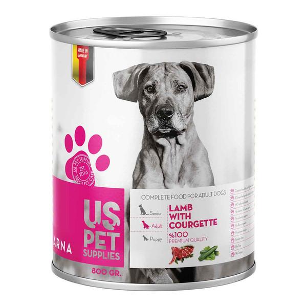 کنسرو غذای سگ یو اس پت کد 035 وزن 400 گرم