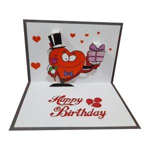 کارت پستال سه بعدی طرح تولدت مبارک کد DLL34