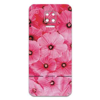 برچسب پوششی ماهوت مدل Pink-Flower مناسب برای گوشی موبایل شیائومی Redmi Note 9S