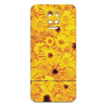 برچسب پوششی ماهوت مدل Yellow-Flower مناسب برای گوشی موبایل شیائومی Redmi Note 9S