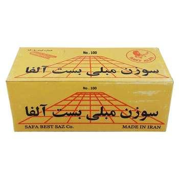 سوزن منگنه بست آلفا سایز 100.8 بسته 5000 عددی