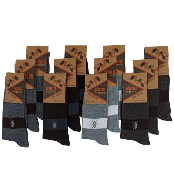 جوراب مردانه مدل JM201 مجموعه 12 عددی
