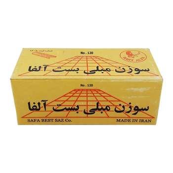 سوزن منگنه بست آلفا کد1205000 سایز 120.8 بسته 5000 عددی