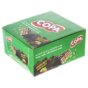 ویفر کاکائویی با کرم فندقی کوپا بسته 30 عددی